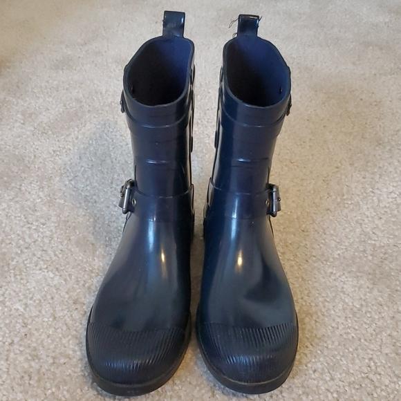 Coach Lester Denim Shiny Rubber Boot